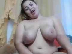 Yummy Big Tits Bbw Masturbates Until She Splashes On Webcam